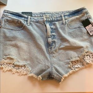 Wild Fable | High Rise Shorts with Lace